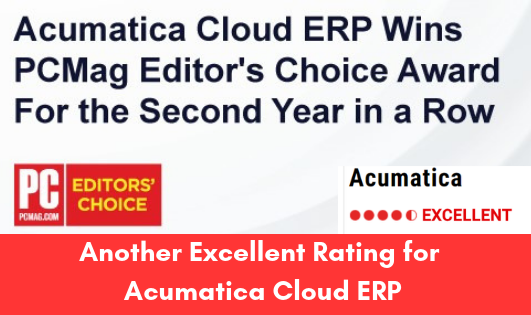 Another Excellent Rating for Acumatica Cloud ERP