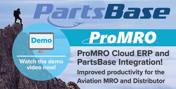 PartsBase Integrated MRO Software Sponsors 2020MRO Americas